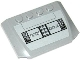Part No: 52031pb066  Name: Wedge 4 x 6 x 2/3 Triple Curved with SW AT-TE Control Panel Pattern (Sticker) - Set 75019