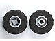 Part No: 6014bc04  Name: Wheel 11mm D. x 12mm, Hole Notched for Wheels Holder Pin with Black Tire 24 x 12 R Balloon (6014b / 56890)