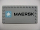 Part No: 6178pb006  Name: Tile, Modified 6 x 12 with Studs on Edges with 'MAERSK' and Maersk Logo Pattern (Sticker) - Set 10219
