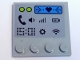 "Part No: 6179pb139  Name: Tile, Modified 4 x 4 with Studs on Edge with ""15:01"" and Phone, Volume, Signal, Battery, Settings and Wifi Symbols Pattern (Sticker) - Set 41346"