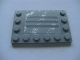 Part No: 6180pb034d  Name: Tile, Modified 4 x 6 with Studs on Edges with Steel Plate with Scratches Type D Pattern (Sticker) - Set 8273