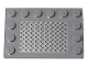 Part No: 6180pb109  Name: Tile, Modified 4 x 6 with Studs on Edges with Silver Tread Plate Pattern (Sticker) - Set 8292/8289