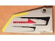Part No: 64682pb017  Name: Technic, Panel Fairing #18 Large Smooth, Side B with Red 'DANGER', Black Vents and Yellow Stripe on Edge Pattern (Sticker) - Set 7160