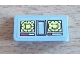 Part No: 85984pb013  Name: Slope 30 1 x 2 x 2/3 with Yellow Knobs and Signal Strength Display Pattern (Sticker) - Set 8424