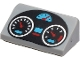 Part No: 85984pb289  Name: Slope 30 1 x 2 x 2/3 with Black Oval Dashboard with Silver, Medium Azure and Red Gauges Pattern