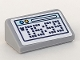 Part No: 85984pb308  Name: Slope 30 1 x 2 x 2/3 with Digital Alarm Clock with 05:59 Pattern (Sticker) - Set 41328