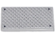 Part No: 87079pb0021  Name: Tile 2 x 4 with Silver Tread Plate and 4 Rivets Pattern (Sticker) - Sets 4644 / 7208