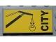 Part No: 87079pb0051  Name: Tile 2 x 4 with Crane and Black 'CITY' Pattern (Sticker) - Set 4645
