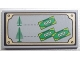 Part No: 87079pb0104  Name: Tile 2 x 4 with Trees and Money Pattern (Sticker) - Set 10216