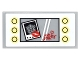Part No: 87079pb0348  Name: Tile 2 x 4 with Lights and Mirror with Joker Photo with Lips and 'xxx' and Heart and 'The Joker' Pattern (Sticker) - Set 10937