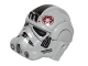 Part No: 87556pb05  Name: Minifigure, Headgear Helmet SW Stormtrooper Type 2, AT-AT Driver Dark Red Imperial Logo Pattern
