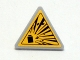 Part No: 892pb022  Name: Road Sign Clip-on 2 x 2 Triangle with Yellow Explosion Type 1 Pattern (Sticker)