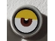 Part No: 98138pb142  Name: Tile, Round 1 x 1 with Centered Reddish Brown Eye and Yellow Eyelid Pattern