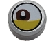 Part No: 98138pb144  Name: Tile, Round 1 x 1 with Lateral Reddish Brown Eye and Yellow Eyelid Pattern