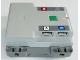 Part No: bb0961c01pb01  Name: Electric Battery Box Powered Up Bluetooth Hub with Dark Bluish Gray Bottom with Letters A, B, C and D on Dark Bluish Gray Background Pattern (Stickers) - Set 42099