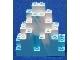 Part No: 6083pb01  Name: Rock Panel 3 x 8 x 7 Triangular (LURP) with Marbled White Pattern