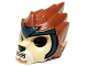 Part No: 11129pb01  Name: Minifigure, Headgear Mask Lion with Tan Face and Dark Blue Headpiece Pattern