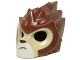 Part No: 11129pb08  Name: Minifigure, Headgear Mask Lion with Tan Face and Crooked Frown Pattern