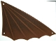 Part No: 14306  Name: Cloth Sail Triangular 18 x 34 with Winged Edge and Dark Brown Pattern