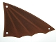 Part No: 14310  Name: Cloth Sail Triangular 12 x 21 with Winged Edge and Dark Brown Pattern