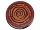 Part No: 14769pb345  Name: Tile, Round 2 x 2 with Bottom Stud Holder with Tree Stump / Wood Grain Pattern (Sticker) - Set 41424