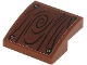 Part No: 15068pb270  Name: Slope, Curved 2 x 2 with Wood Grain and 4 Screws on Reddish Brown Background Pattern (Sticker) - Set 71705