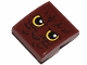 Part No: 15068pb292  Name: Slope, Curved 2 x 2 with Yellow Eyes and Fur Pattern (Sticker) - Set 30628