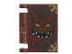 Part No: 24093pb005  Name: Minifigure, Utensil Book Cover with Black Mouth with Teeth, Gold Eyes, Red Tongue, Dark Brown Highlights Pattern (Nexo Knights Book of Monsters)