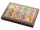 Part No: 26603pb121  Name: Tile 2 x 3 with Badges on Orange Background Pattern (Sticker) - Set 21324