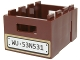Part No: 30150pb02  Name: Container Crate 3 x 4 x 1 2/3 with Handholds with White License Plate and 'WU 53N531' Pattern (Sticker) - Set 70734