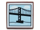 Part No: 3068bpb0674  Name: Tile 2 x 2 with Groove with Suspension Bridge Pattern