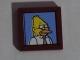 Part No: 3068bpb0955  Name: Tile 2 x 2 with Groove with Abe Simpson / Grampa Simpson / Grandpa Simpson Portrait Pattern (Sticker) - Set 71006