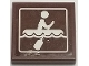Part No: 3068bpb1245  Name: Tile 2 x 2 with Groove with Person Rowing on Raft on Choppy Water Pattern (Sticker) - Set 41339