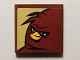 Part No: 3068bpb1273  Name: Tile 2 x 2 with Groove with Angry Birds Terence Pattern (Sticker) - Set 75823