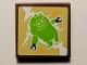 Part No: 3068bpb1274  Name: Tile 2 x 2 with Groove with Angry Birds Piggy Pattern (Sticker) - Set 75823