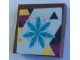 Part No: 3068bpb1509  Name: Tile 2 x 2 with Groove with Medium Azure Snowflake Pattern (Sticker) - Set 41324