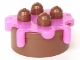 Part No: 31287c03  Name: Duplo Cake with Trans-Dark Pink Frosting