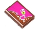 Part No: 33009pb046  Name: Minifigure, Utensil Book 2 x 3 with Hearts and Lime Lock Pattern (Sticker) - Set 41039