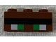 Part No: 3622pb121  Name: Brick 1 x 3 with Minecraft Pixelated Green Eyes and Black Eyebrow Pattern