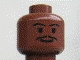 Part No: 3626bpb0214  Name: Minifigure, Head Moustache Thin, Standard Grin, Eyebrows, Small Eyelashes Pattern (SW Lando) - Blocked Open Stud