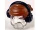 Part No: 39514pb01  Name: Minifigure, Hair Short with 2 Locks on Left Side, Black Headphones Pattern
