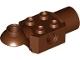 Part No: 47452  Name: Technic, Brick Modified 2 x 2 with Pin Hole, Rotation Joint Ball Half (Horizontal Top), Rotation Joint Socket