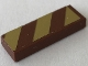 Part No: 63864pb107L  Name: Tile 1 x 3 with Reddish Brown and Gold Stripes Pattern Model Left Side (Sticker) - Set 41068
