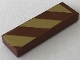 Part No: 63864pb107R  Name: Tile 1 x 3 with Reddish Brown and Gold Stripes Pattern Model Right Side (Sticker) - Set 41068