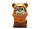 Part No: 64805pb06  Name: Minifigure, Head Modified SW Ewok with Dark Orange Hood with Reddish Brown Stitching and Tan Face Paint Pattern