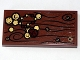 Part No: 87079pb0102  Name: Tile 2 x 4 with Wood Grain, 4 Screws, Gold Coins and Jewel Pattern (Sticker) - Set 79010