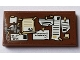Part No: 87079pb0512  Name: Tile 2 x 4 with Reddish Brown Bulletin Board with Notes Pattern (Sticker) - Set 75827