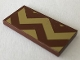 Part No: 87079pb0716  Name: Tile 2 x 4 with Gold Zigzag Stripes with Large Corner Triangles Pattern (Sticker) - Set 41068