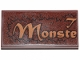 Part No: 87079pb0795  Name: Tile 2 x 4 with 'T', 'Monste' and Fur Pattern (Sticker) - Set 30628