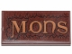Part No: 87079pb0797  Name: Tile 2 x 4 with 'MONS' and Fur Pattern (Sticker) - Set 30628